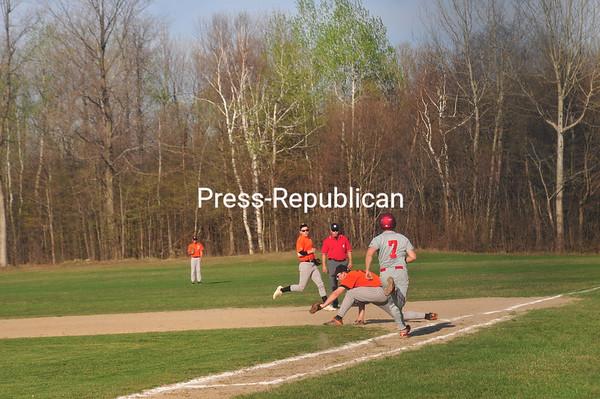 Monday, April 16, 2012. Beekmatown defeated PHS 5-3 to open up the 2012 CVAC baseball season. <br /><br />(Staff Photo/Kelli Catana)