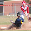 ROB FOUNTAIN/STAFF PHOTO 4-22-2016<br /> Lake Placid plays Saranac in boys baseball Thursday in Saranac.