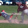Wednesday, May 8, 2013. Northeastern Clinton Cougars, trailing 6-2 after the third inning, rallied for a come -from-behind 10-6 win against the Saranac Lake Storm. <br /><br />(P-R Photo/Gabe Dickens)