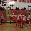 Saturday, November 29, 2014. The Saranac Chiefs faced off against the Schroon Lake Wildcats during the Muggsy's Tip Off Classic championship game held at the Saranac High School Saturday night. The Wildcats defeated the Chiefs, 43-40. <br /><br />(P-R Photo/BEN ROWE)