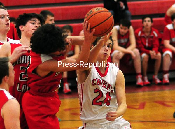 Thursday, February 26, 2015. Saranac plays Saranac Lake Wednesday in boys basketball in Saranac. <br /><br />(Rob Fountain/Staff Photo)