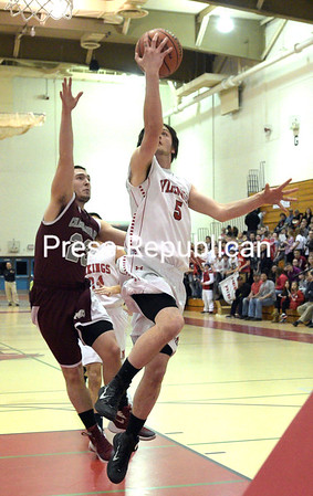 """Moriah plays Chateaugay Wednesday March 2, 2016 during the Cladd D NYS Regional Semi-Final game at SUNY Plattsburgh Fieldhouse.<br /> Bouns at  <a href=""""http://www.pressrepublican.com"""">http://www.pressrepublican.com</a>. (ROB FOUNTAIN/STAFF PHOTO)"""
