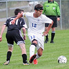 Monday, September 22, 2014. Peru plays Plattsburgh Monday during a CVAC Boys Soccer match in Peru.  <br /><br />(P-R Photo/Rob Fountain)