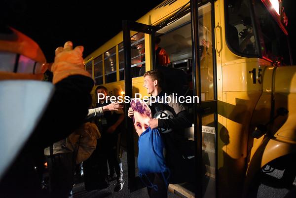 Sunday November 15, 2015 - Plattsburgh High celebrates winning the Class B Boys Soccer State Championship. (ROB FOUNTAIN/STAFF PHOTO)