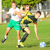 Tuesday, October 16, 2012. The Bobcats held off the Knights, 2-1, during Tuesday's boys' Northern Soccer League contest. <br /><br />(P-R Photo/Rob Fountain)