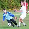 Monday, September 22, 2014. Saranac plays Beekmantown Monday in CVAC Boys Soccer match in Beekmantown. <br /><br />(P-R Photo/Rob Fountain)