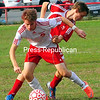 Friday, September 21, 2012. Northeastern Clinton won, 3-1, against Beekmantown in Friday's boys' Northern Soccer League contest. <br /><br />(P-R Photo/Rob Fountain)
