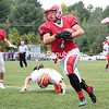 Saturday, September 20, 2014. The Beekmantown Eagles defeated the Plattsburgh Hornets by a score of 63-12 during a Champlain Valley Athletic Assocation varsity football game Saturday afternoon at Beekmantown Central School. <br /><br />(P-R Photo/Gabe Dickens)