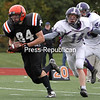 Saturday, October 13, 2012. The Sentinels defeated the Hornets, 34-6, during Saturday's Champlain Valley Athletic Conference football game.  <br /><br />(P-R Photo/Gabe Dickens)