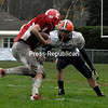 Sunday, October 23, 2011. Saranac Lake vs. Potsdam in Saranac Lake.  SLCS won 31-14.<br><br>(Staff Photo/Ryan Hayner)