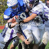 Saturday, October 15, 2011. Peru Central High School vs. Ticonderoga High School in Peru.  Peru won 20-14.<br><br>(P-R Photo/Rob Fountain)