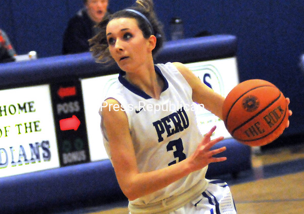 Friday, February 1, 2013. A 21-4 spurt by Peru in the second quarter resulted in a 61-28 victory over Northern Adirondack in CVAC action. (P-R Photo/Rob Fountain)