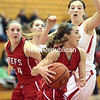 Friday, December 19, 2014. Saranac tangles with Beekmantown during Friday's ninth-annual Coaches vs Cancer Challenge at the Field House in Plattsburgh. <br /><br />(P-R Photo/Gabe Dickens)