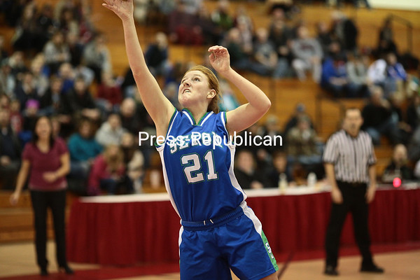 Saturday, March 1, 2014. Northern Adirondack defeated Seton Catholic in the Section VII Class C girls' championship basketball game at the Field House in Plattsburgh Friday afternoon. <br /><br />(P-R Photo/Gabe Dickens)