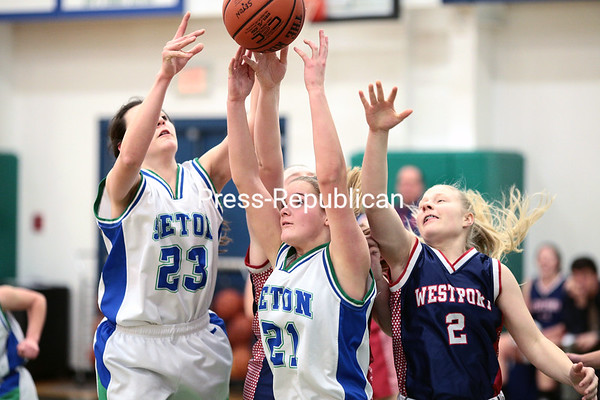 Thursday, January 22, 2015. Seton Catholic hosted Westport in girls' Northern Basketball League action Thursday evening at Seton Catholic Central High School in Plattsburgh. <br /><br />(P-R Photo/Gabe Dickens)