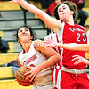 Tuesday, February 24, 2015. Plattsburgh plays Saranac Lake Tuesday during a girls playoff basketball game in Plattsburgh.  <br /><br />(ROB FOUNTAIN/STAFF PHOTO)