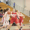 Saturday, March 2, 2013. The Beekmantown Eagles outscored the Plattsburgh Hornets 7-3 in the overtime session to capture the Section VII Class B championship, 44-40, in girls' basketball at the Plattsburgh State Field House Friday. <br /><br />(P-R Photo/Gabe Dickens)