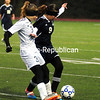 AuSable Valley plays Northern Adirondacks Wednesday, October 28, 2015, during the Section VII Girls Class C Soccer Championship in Plattsburgh. (ROB FOUNTAIN/STAFF PHOTO)