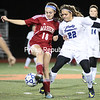 Wednesday, November 5, 2014. Peru took on Massena in the NYSPHSAA Class A regional semifinal girls' soccer game at the Plattsburgh High Athletic Complex Tuesday. <br /><br />(P-R Photo/Gabe Dickens)