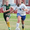 Thursday, September 18, 2014. Seton Catholic plays Elizabethtown in CVAC girls soccer Wednesday in Plattsburgh. <br /><br />(P-R Photo/Rob Fountain)