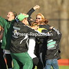 Class D state semifinal between Chazy High School and Remsen.  Chazy won on penalty kicks.