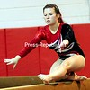 ROB FOUNTAIN/STAFF PHOTO 9-21-2016<br /> Beekmantown's Kailey Quackenbush performs a routine on the beam Tuesday during a gymnastics meet against Plattsburgh High in Beekmantown.