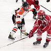Wednesday, February 19, 2014. The third-seeded Plattsburgh Hornets took on the sixth-seed Saranac Chiefs in a Section VII quaterfinal boys' hockey game at the Ameri-Can North Sports Center in Plattsburgh Tuesday evening. <br /><br />(P-R Photo/Gabe Dickens)