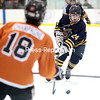 Tuesday, March 3, 2015. The Lake Placid Blue Bombers defeated the Plattsburgh Hornets 5-3 to claim the Section VII Division II boys' hockey championship at the Ronald B. Stafford Arena in Plattsburgh Tuesday evening. <br /><br />(P-R Photo/Gabe Dickens)