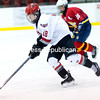 Sunday, December 21, 2014. Beekmantown hosted Pelham in boys' hockey Sunday afternoon in the Beekmantown Holidy Series tournament at the Ronald B. Stafford Arena in Plattsburgh. <br /><br />(P-R Photo/Gabe Dickens)