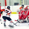 Saturday, January 28, 2012.  Plattsburgh High School vs. Saranac Central High School in Plattsburgh.  PHS won 5-0.<br /><br />(P-R Photo/Rob Fountain)