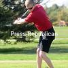 ROB FOUNTAIN/STAFF PHOTO  5-10-2016<br /> Northeastern Clinton Matthew Snide tees off against AuSable Valley Wednesday in Rouses Point.
