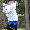 ROB FOUNTAIN/STAFF PHOTO  5-5-2016<br /> Peru's Jordan Gauy tees off at Adirondack Golf Course in Peru.