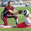 ROB FOUNTAIN/STAFF PHOTO  5-10-2016<br /> Northeastern Clinton plays Saranac Wednesday in a CVAC girls softball game in Champlain.