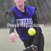 Wednesday, April 30, 2014. AuSable Valley plays Ticonderoga Tuesday during a CVAC Girls Softabll game in Clintonville. <br /><br />(P-R Photo/Rob Fountain)