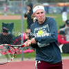 ROB FOUNTAIN/STAFF PHOTO  5-10-2016<br /> Northeastern Clinton plays Saranac Central in Champlain Valley Athletic Conference girls' tennis match in Saranac Monday.