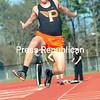 ROB FOUNTAIN/STAFF PHOTO  5-12-2016<br /> Northeastern Clinton plays Plattsburgh High Tuesday during a CVAC track meet in Plattsburgh.