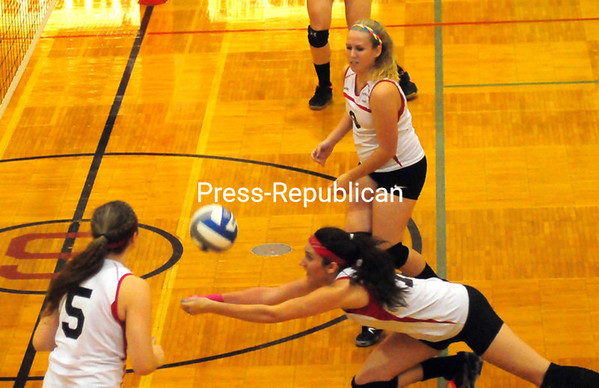 Tuesday, October 30, 2012.  The Chiefs defeated Northeastern Clinton, 3-2, in Tuesday's Section VII Class C quarterfinal volleyball match.  <br /><br />(P-R Photo/Rob Fountain)
