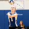 Wednesday, October 22, 2014. The Lady Indians defeated the Plattsburgh Hornets in Champlain Valley Athletic Conference volleyball Wednesday evening at Peru Central School. <br /><br />(P-R Photo/Gabe Dickens)