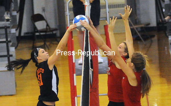 Monday, September 26, 2011. Beekmantown Central High School vs. Plattsburgh High School in Beekmantown.  BCS won all three games.<br><br>(P-R Photo/Rob Fountain)