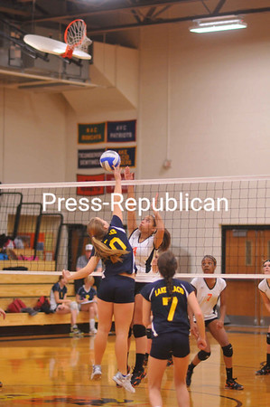 Monday, October 15, 2012. PHS won 3-0 against Lake Placid in Monday's CVAC volleyball match in Plattsburgh. <br /><br />(Staff Photo/Kelli Catana)
