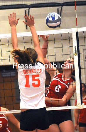 Wednesday, October 12, 2011. Plattsburgh High School vs. Saranac Central High School in Plattsburgh. PHS won 3-0.<br><br>(P-R Photo/Rob Fountain)