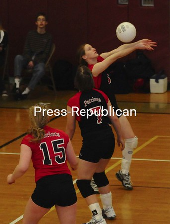 Friday, February 13, 2009. AuSable Valley Central High School vs.  Northeastern Clinton Central High School in Champlain.  AuSable won 3-1.<br><br>(Staff Photo/Michael Betts)