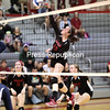 Tuesday, September 30, 2014. The Beekmantown Eagles defeated the Ausable Valley Patriots in Champlain Valley Athletic Association varsity volleyball during Tuesday's match at Beekmantown Central School. <br /><br />(P-R Photo/Gabe Dickens)