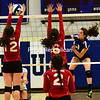 Saranac Lake plays Peru in girls volleyball, Monday October 5th, 2015 in Peru. (ROB FOUNTAIN/STAFF PHOTO)
