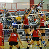 Monday, September 12, 2011. Beekmantown Central High School vs. Saranac Lake High School in Beekmantown.  BCS won 3-0.<br><br>(Staff Photo/Kelli Catana)
