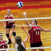 Monday, October 20, 2014. Saranac Lake plays Saranac Monday during a CVAC volleyball match in Saranac. <br /><br />(P-R Photo/Rob Fountain)