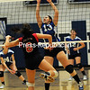 Tuesday, October 22, 2013. AuSable Valley battles Peru High School Monday October 21, 2013 during CVAC Volletball action in Peru. <br /><br />(P-R Photo/Rob Fountain)