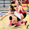 Tuesday, October 15, 2013. The Saranac Chiefs take on the Peru Indians in a Champlain Valley Athletic Conference volleyball game at Peru Central School Tuesday evening. <br /><br />(P-R Photo/Gabe Dickens)