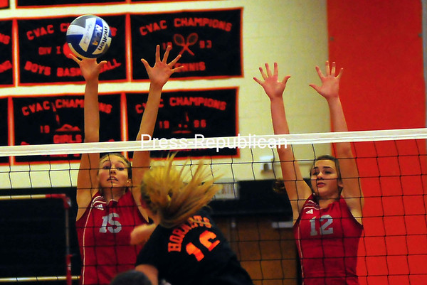 Tuesday, September 25, 2012.  Champlain Valley Athletic Conference match, Beekmantown against Plattsburgh. The Eagles stayed perfect on the season with a 3-0 victory. <br /><br />(P-R Photo/Rob Fountain)