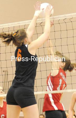Tuesday, February 19, 2008. Plattsburgh High School vs. Beekmantown Central High School in Plattsburgh.  Beekmantown won 3-0.<br><br>(Staff Photo/Michael Betts)